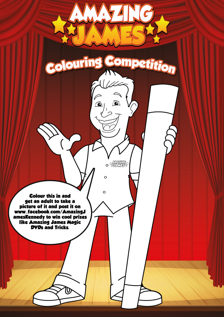 Amazing James Colouring sheet2015